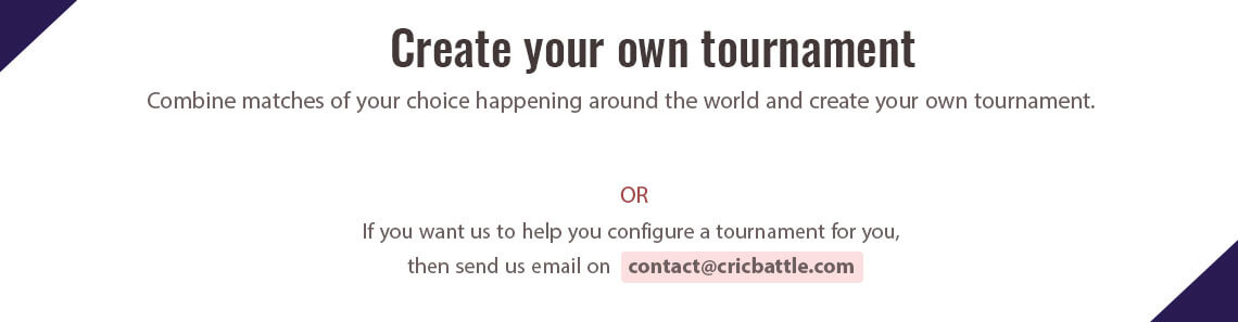 Create Custom Tournament
